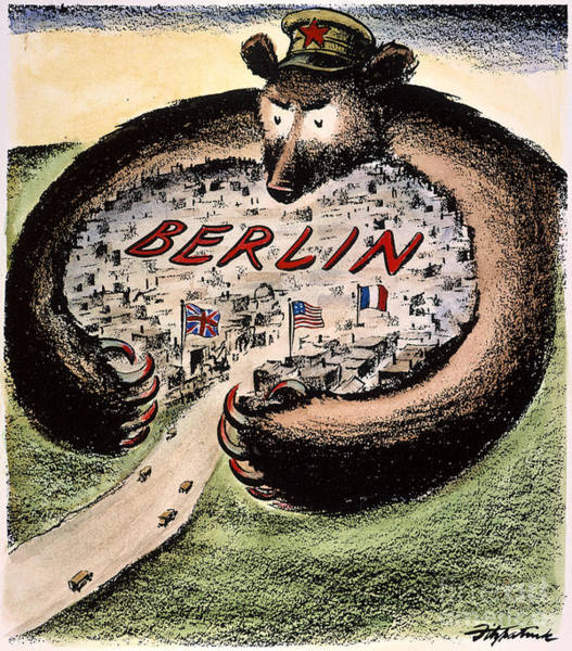 Photograph - Cartoon: Cold War Berlin by Granger