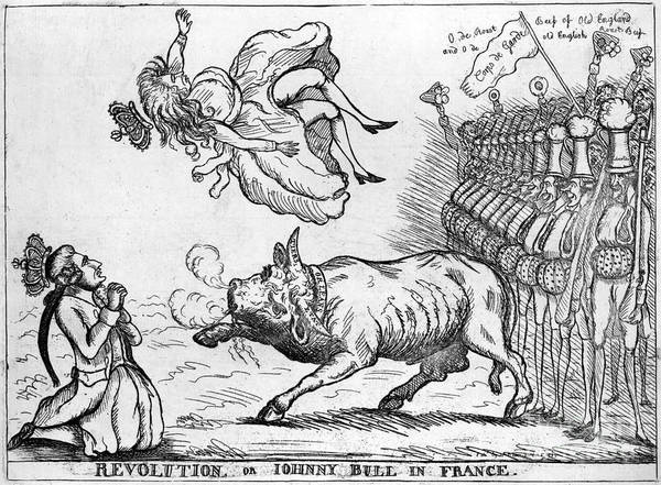 Drawing - Cartoon, French Revolution.  by Granger