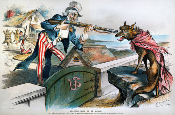 Photograph - Cartoon: Panic Of 1893 by Granger