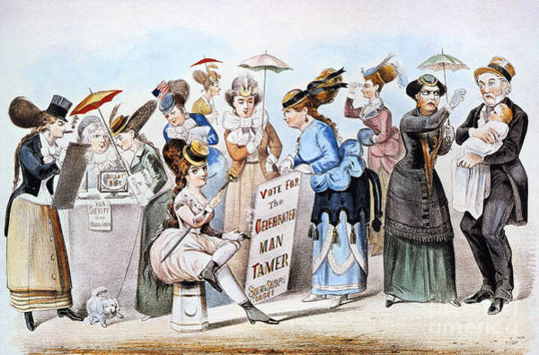 Nathaniel Photograph - Cartoon: Womens Rights by Granger