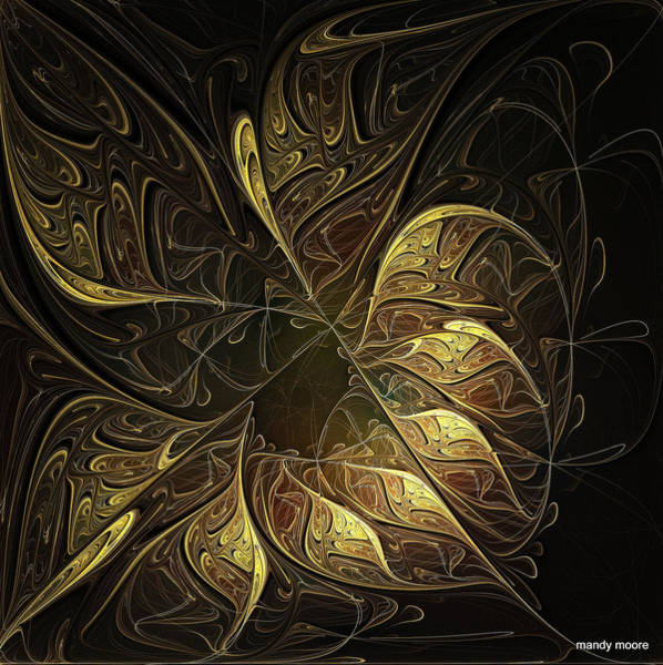 Apophysis Digital Art - Carved In Gold by Amanda Moore