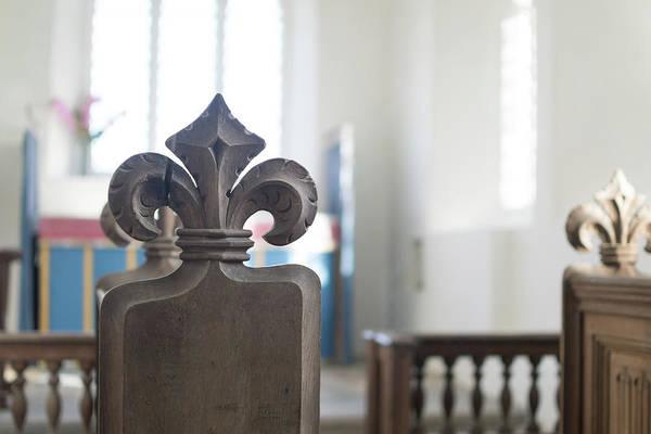 Photograph - Carved Poppy Head Bench In Medieval English Church by Jacek Wojnarowski