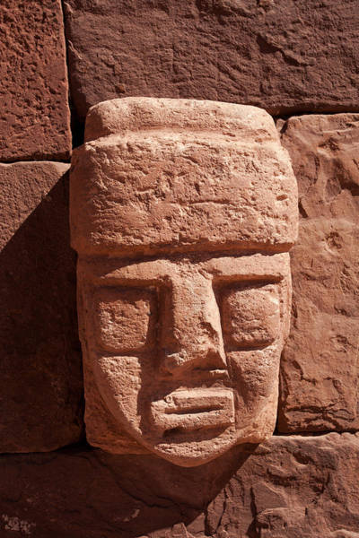 Photograph - Carved Stone Tenon-head  by Aivar Mikko