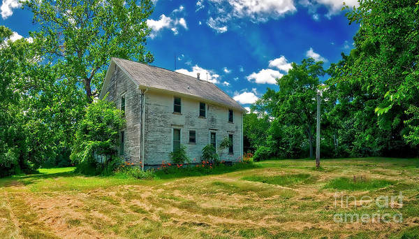 Photograph - Cary And Klasen Farm House Algonquin Ill by Tom Jelen
