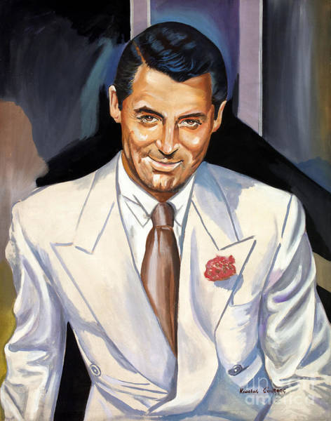 Thief Painting - Cary Grant by Star Portraits Art