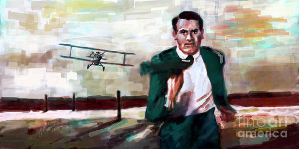 Digital Art - Cary Grant North By Northwest Crop Duster by Ginette Callaway
