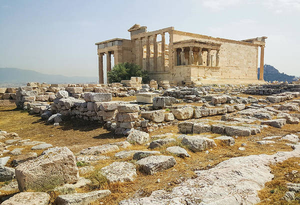 Erechtheion Photograph - Caryatids On The Acropolis by Adriana Zoon