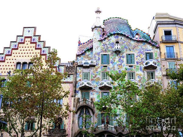 Photograph - Casa Batllo In Barcelona by John Rizzuto