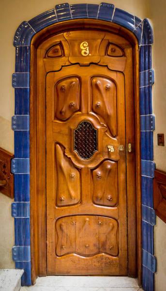 Photograph - Casa Batllo Gaudi Door by Adam Rainoff