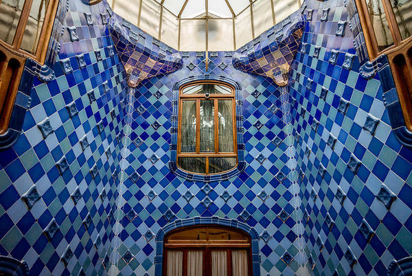 Photograph - Casa Batllo Gaudi Patio Window by Adam Rainoff