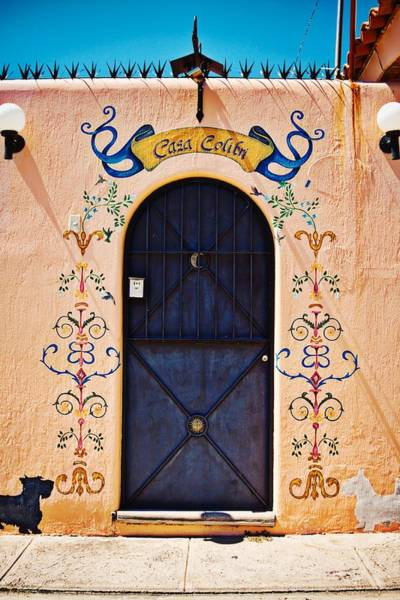 Photograph - Casa Colibri Door In Ajijic, Mexico by Tatiana Travelways