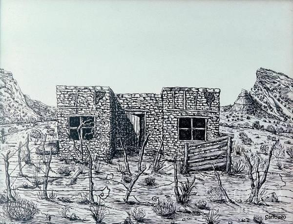 Drawing - Casa De Piedra by Santiago Chavez