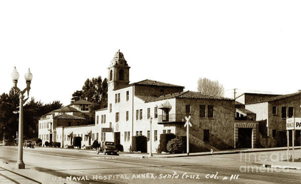 Photograph - Casa Del Rey Apartments Santa Cruz Circa 1943 by California Views Archives Mr Pat Hathaway Archives