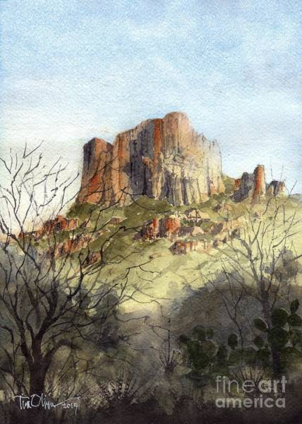Bend Painting - Casa Grande In The Chisos by Tim Oliver