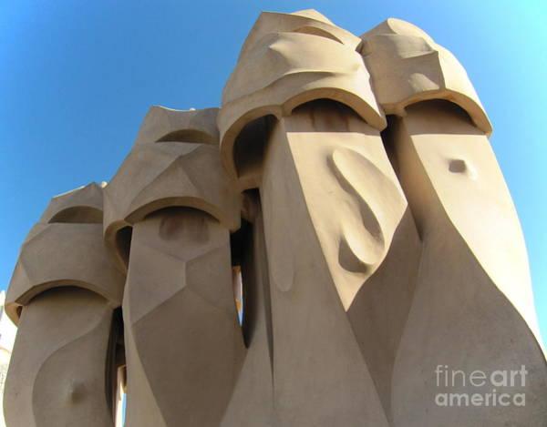 Photograph - Casa Milo Chimneys by Laurie Morgan