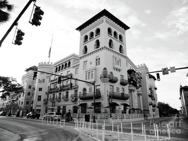 Photograph - Casa Monica In Black And White by D Hackett