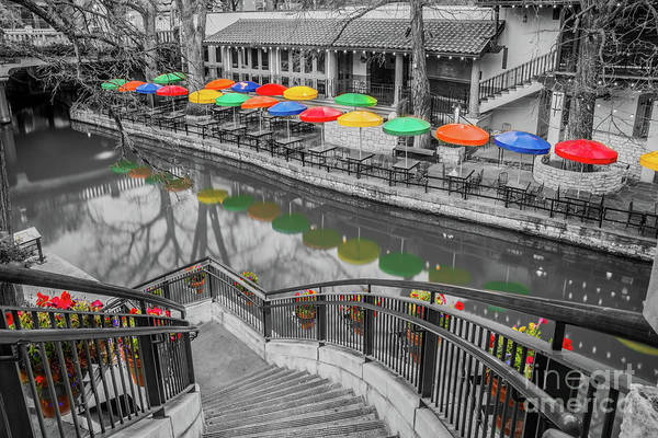 Wall Art - Photograph - Casa Rio River Walk In Selective Color by Michael Tidwell