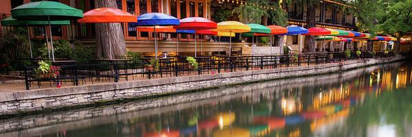 Photograph - Casa Rio - San Antonio Texas Riverwalk Panorama by Gregory Ballos