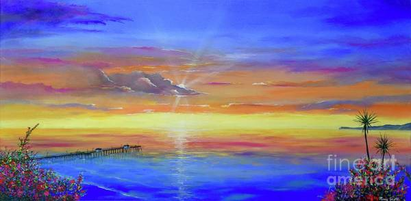 Painting - Casa Romantica Sunset by Mary Scott
