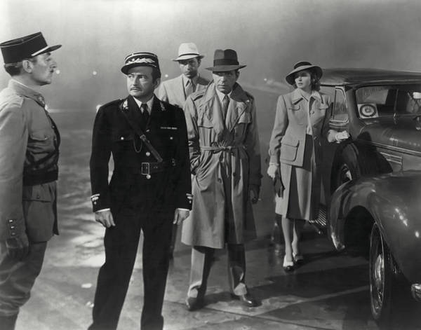Wwii Photograph - Casablanca Movie Still  1942 by Daniel Hagerman