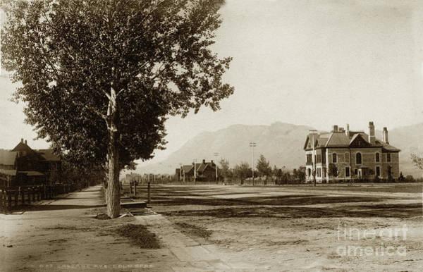 Photograph - Cascade Avenue,  Colorado Springs, El Paso County, Colorado Circa 1890 by California Views Archives Mr Pat Hathaway Archives