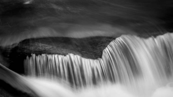 Wall Art - Photograph - Cascade - Black And White by Stephen Stookey