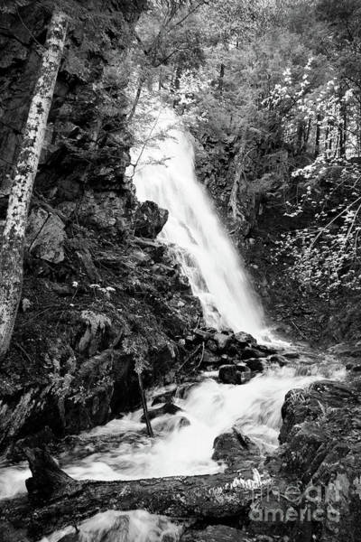 Photograph - Cascade Falls No. 2, Farmington, Maine #30418-bw by John Bald