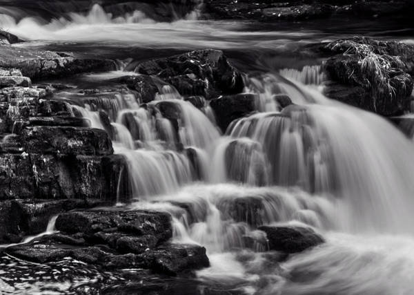 Nantahala Photograph - Cascade In Black And White by Greg and Chrystal Mimbs