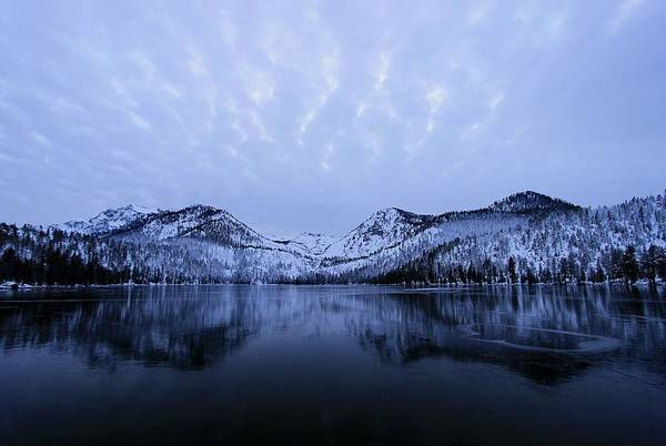 Photograph - Cascade Lake Twilight Ice Reflection by Sean Sarsfield