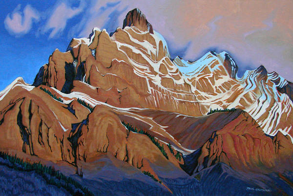 Wall Art - Painting - Cascade Mountain Banff by Paul Gauthier