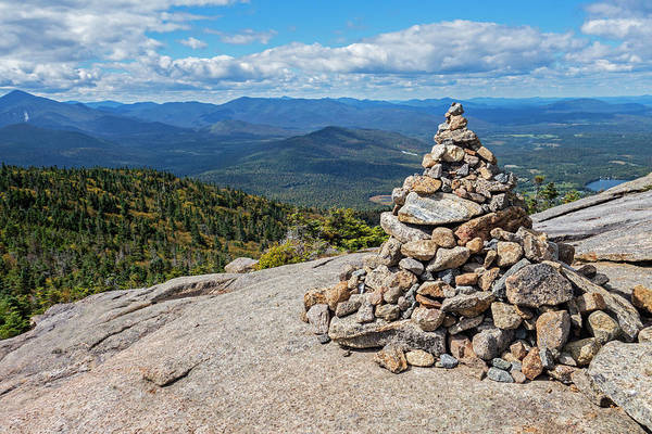 Photograph - Cascade Mountain Peak Rock Cairn Keene Ny by Toby McGuire