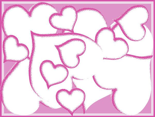 Digital Art - Cascade Of Hearts by Barbara Jacobs