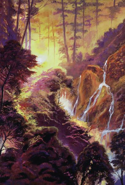 Painting - Cascade Ravine by David Lloyd Glover