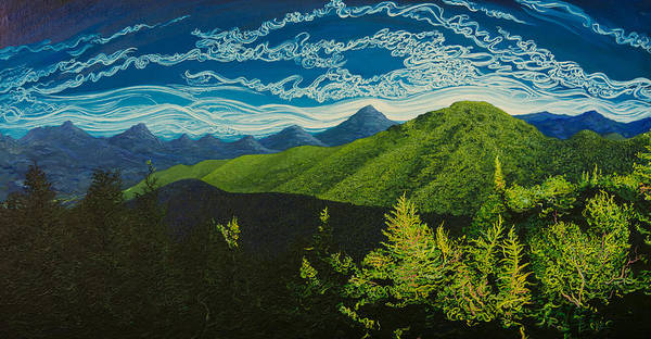 Adirondack Mountains Painting - Cascade by Rob Barker