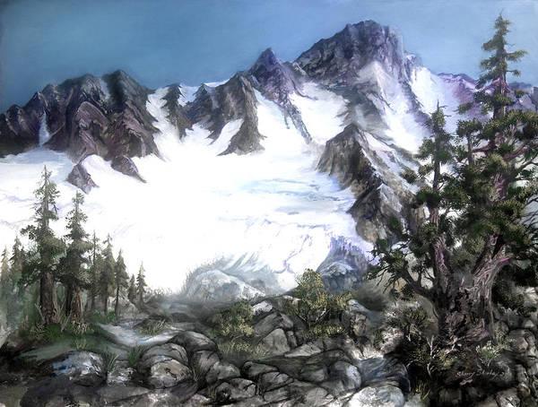 Painting - Cascade Splendor  Mount Fury by Sherry Shipley