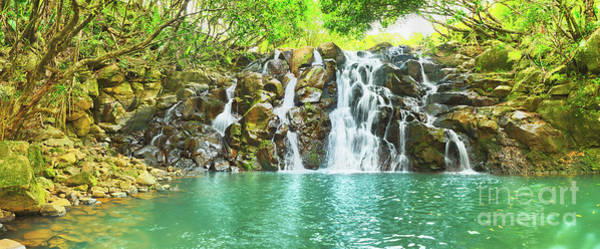 Wall Art - Photograph - Cascade Vacoas Waterfall. Mauritius. Panorama by MotHaiBaPhoto Prints