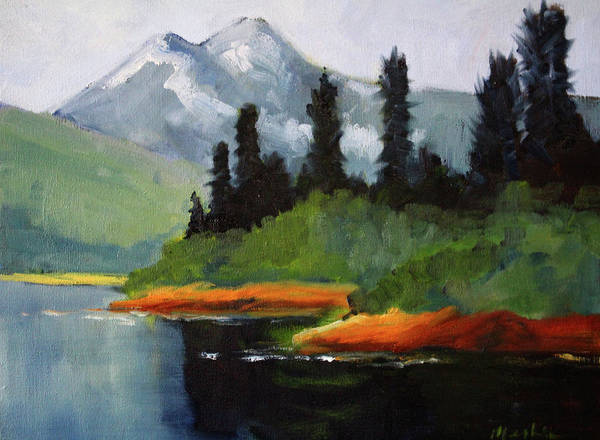Wall Art - Painting - Cascade View by Nancy Merkle