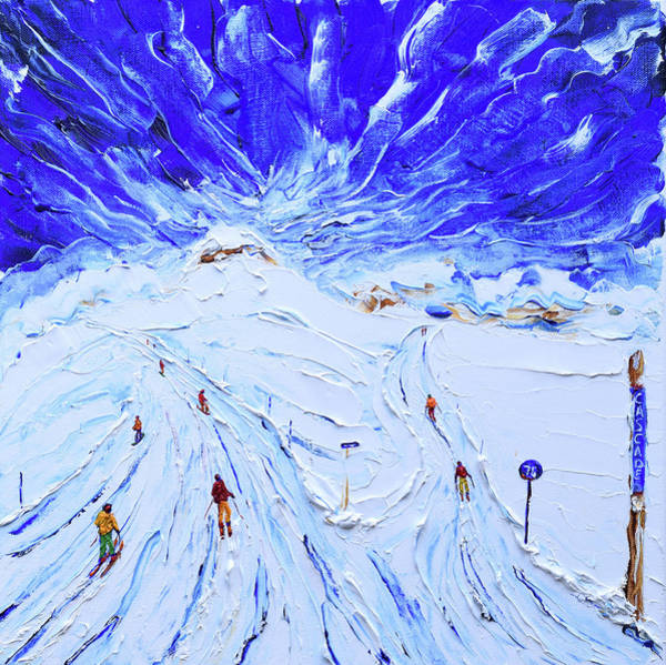 Snowboard Wall Art - Painting - Cascades by Pete Caswell