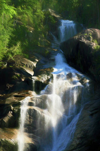 Photograph - Cascading Beauty - Shannon Falls  British Columbia, Canada by Ola Allen