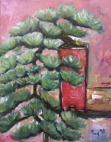 Tree Painting - Cascading Bonsai by Roxy Rich