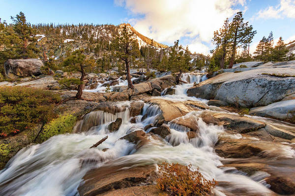 Lightroom Photograph - Cascading Creek Of Spring Mountain Waterfalls by Mike Herron