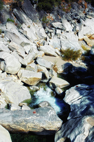 Yuba River Photograph - Cascading Stone by Donna Blackhall