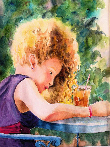 Dining Al Fresco Painting - Cascading Sunbeams by Barbara Jung