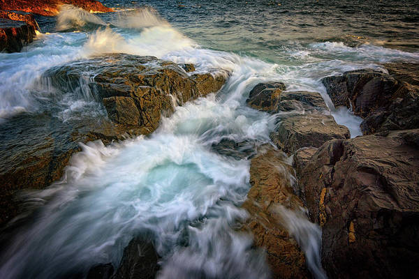Photograph - Cascading Tide At Schoodic Point by Rick Berk