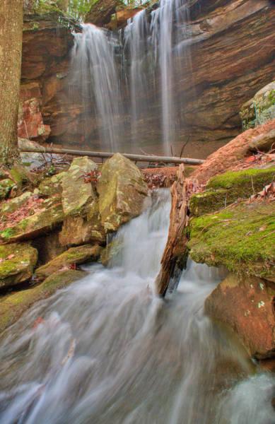 Crossville Wall Art - Photograph - Cascading Waterfall by Douglas Barnett
