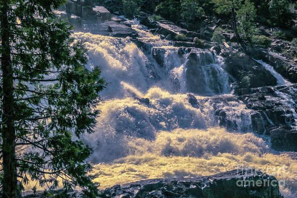 Photograph - Cascading Waterfall by Joe Lach