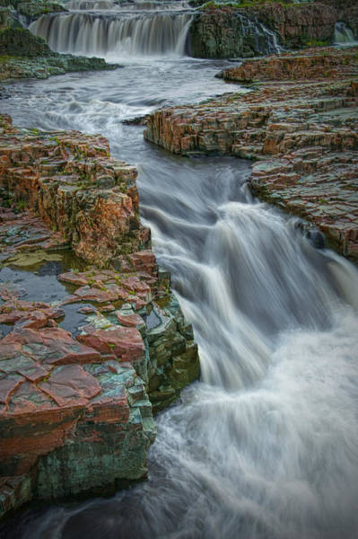 Photograph - Cascading Waterfalls In Falls Park Sioux Falls by Randall Nyhof