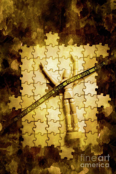 Puzzle Wall Art - Photograph - Case Of A Unsolved Crime by Jorgo Photography - Wall Art Gallery