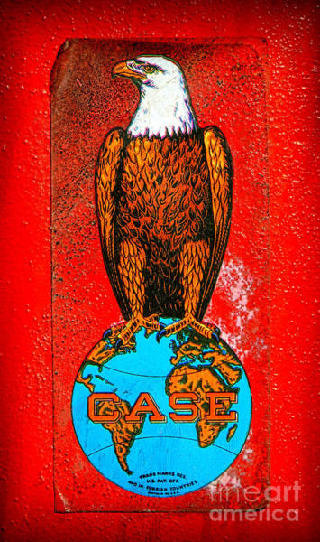 Wall Art - Photograph - Case Tractor Eagle Label  by Olivier Le Queinec