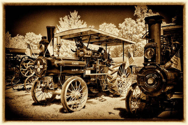 Wall Art - Photograph - Case Tractor In Line by Paul W Faust - Impressions of Light